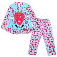 47-378204 Пижама для девочки, 3-7 лет, мятный