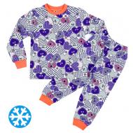 47-378206 Пижама утепленная для девочки, 3-7 лет