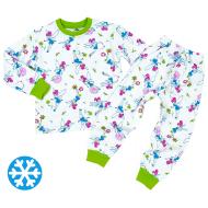 47-378207 Пижама утепленная для девочки, 3-7 лет