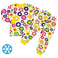 47-378208 Пижама утепленная для девочки, 3-7 лет
