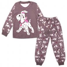 47-388225 Пижама для девочки, 3-7 лет, серый
