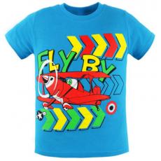 47-580101-6 Футболка для мальчика, 5-8 лет, бирюзовый