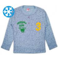 47-581201 Джемпер-поло утепленный для мальчика, 5-8 лет, св-голубой