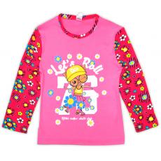 47-581214 Лонгслив для девочки, 5-8 лет, розовый