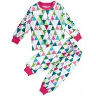 47-588205 Пижама с начесом для девочки, 5-8 лет, розовый