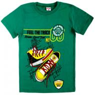 47-9120101-19 Футболка для мальчика, 9-12 лет, зеленый