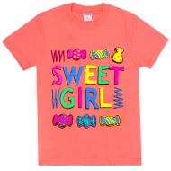 47-9120202-2 Футболка для девочки, 9-12 лет, коралловый
