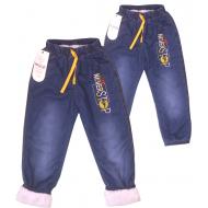 Tr-191-1 Брючки джинсовые утепленные для мальчика, 5-8 лет