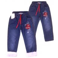 Tr-191-2 Брючки джинсовые утепленные для мальчика, 5-8 лет