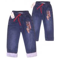 Tr-191-3 Брючки джинсовые утепленные для мальчика, 5-8 лет