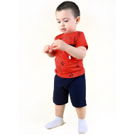TR-0122-3 Костюм для малыша, красный