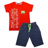 TR-0136-2 Костюм для мальчика, 6-9 лет, красный