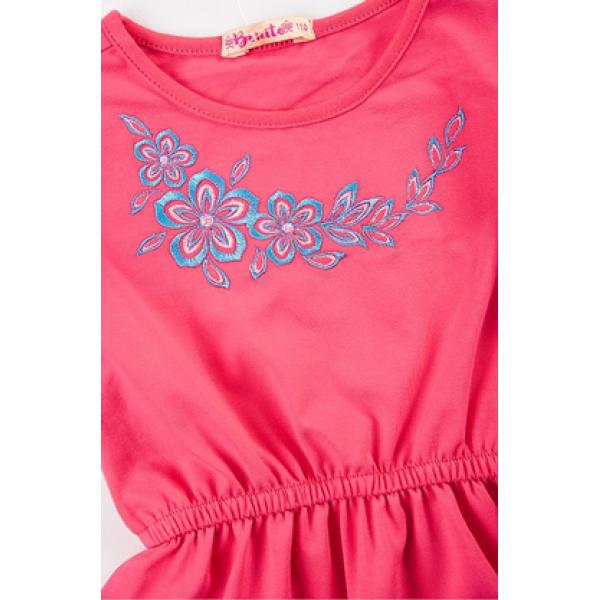 20-112404 Платье-туника для девочки, 3-7 лет, т-розовый