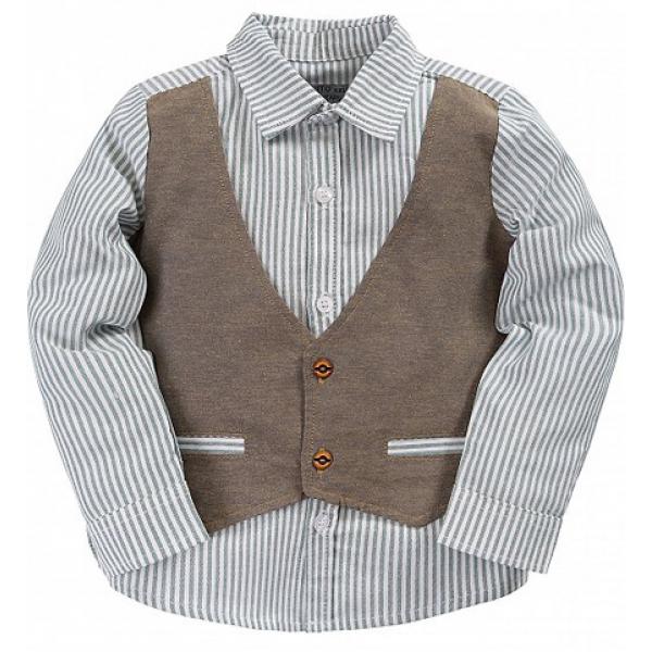 20-24601 Рубашка в полоску для мальчика, 3-7 лет