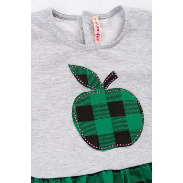 20-106901 Платье для девочки, 2-6 лет, зеленый