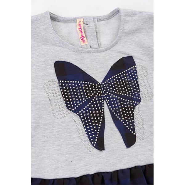 20-106903 Платье для девочки, 2-6 лет, синяя ночь