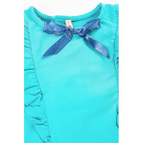 20-112601 Платье для девочки, 3-7 лет, бирюзовый