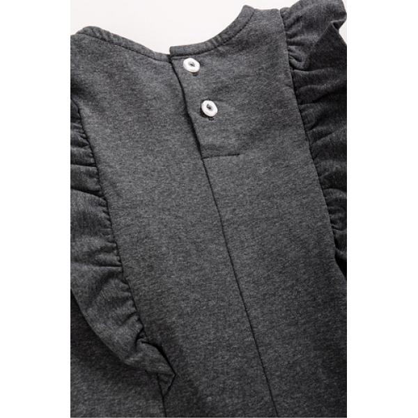 20-112602 Платье для девочки, 3-7 лет, серый