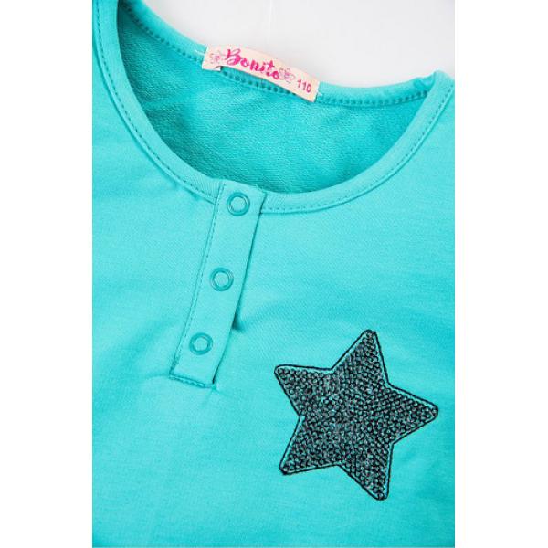 20-80601 Платье для девочки, 3-7 лет, ментоловый