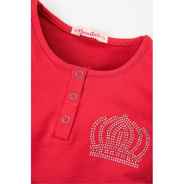 20-80602 Платье для девочки, 3-7 лет, красный
