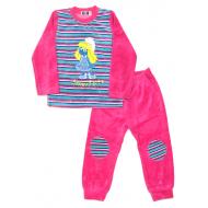 """78102 """"Pink Smurf"""" Костюм для девочек, велюр"""