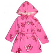 44-0085 Халат махровый с капюшоном для девочек, 2-5 лет