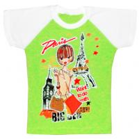 """440-143414 """"PARIS"""" Футболка для девочки, 86-104"""