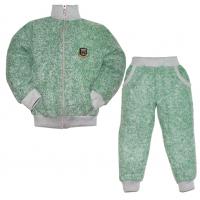 """44-25812 """"СПОРТ"""" костюм с курткой на молнии 2-5 лет, пике, зеленая искра"""