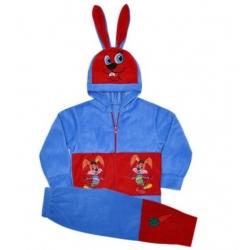 """44-051152 """"Зайчонок"""" костюм с ушками для мальчика, 68-86, флис"""