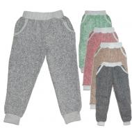 44-01100 Брюки с карманами 6-9 лет, пике, серый