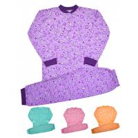 44-155690 Пижама для девочек (на кокетке), 2-х нитка с начесом, 1-5 лет