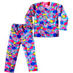 """44-6982571 """"Любимые Сны"""" пижама для девочек 6-9 лет, двухнитка, бирюзовый"""