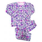 44-91244 Пижама для девочки, двухнитка с начёсом, 9-12 лет