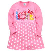 """05-0625 """"Love"""" Платье для девочки, интерлок, 3-7 лет, розовый"""