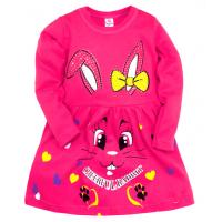 """05-0630 """"Rabbit"""" Платье для девочки, интерлок, 2-6 лет, малиновый"""