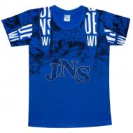 """05-1216101 """"JNS"""" Футболка для мальчика, 12-16 лет, ультрамарин"""