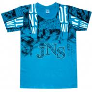 "05-1216102 ""JNS"" Футболка для мальчика, 12-16 лет, бирюза"