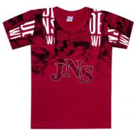 """05-1216105 """"JNS"""" Футболка для мальчика, 12-16 лет, бордовый"""