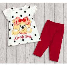 "05-14327 ""Lovely Day"" Комплект для девочки, вишневый"