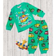 05-148103 Пижама для мальчика, 1-4 года, зеленый