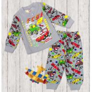 47-148105 Пижама для мальчика, 1-4 года, серый