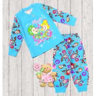 47-148203 Пижама для девочки, 1-4 года, бирюзовый