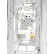 05-4232 Комплект для новорожденных велюровый, серый