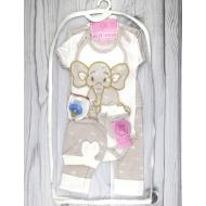 05-4233 Комплект для новорожденных велюровый, бежевый