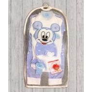 05-4234 Комплект для новорожденных, велюровый голубой