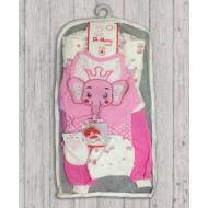 05-4235 Комплект для новорожденных, велюровый розовый