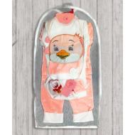 05-4236 Комплект для новорожденных, велюровый персиковый