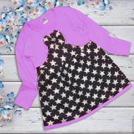 06-060105  Платье для девочки, 3-7 лет, сиреневый