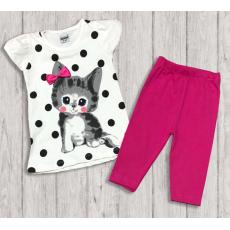"""05-14322 """"Little Kitten"""" Комплект для девочки, малиновый"""