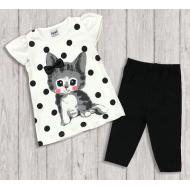 "05-14323 ""Little Kitten"" Комплект для девочки, черный"
